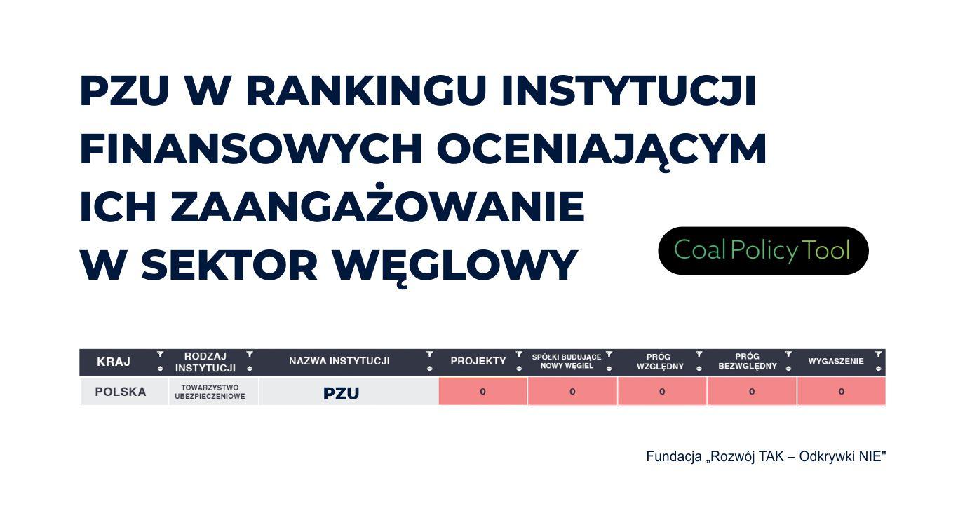PZU w rankingu instytucji finansowych